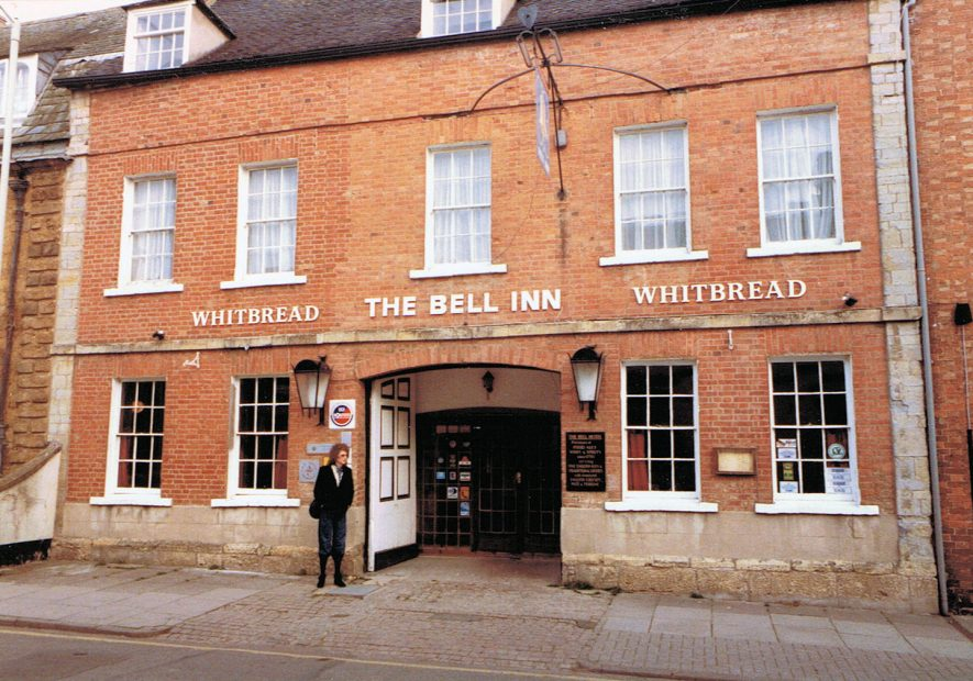 The Bell Inn, Shipston on Stour, 1984. My wife and I stayed there in 1984 and I took the photo (she is in photo). I see the building on Google Streetview but it is no longer a hotel/pub. | Image courtesy of Kenneth Brown