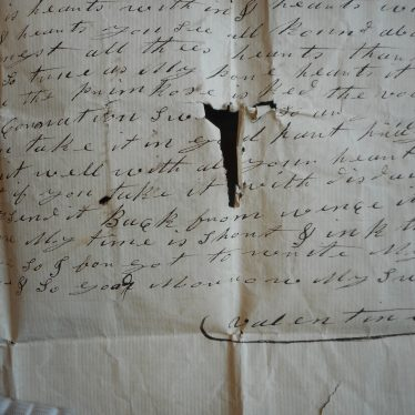 Verse from papercut valentine's day card, c.1800 | Warwickshire County Record Office, reference CR464/153