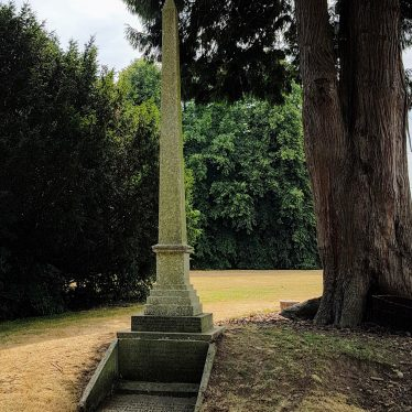 Obelisk in Compton Verney grounds to  south-east of house