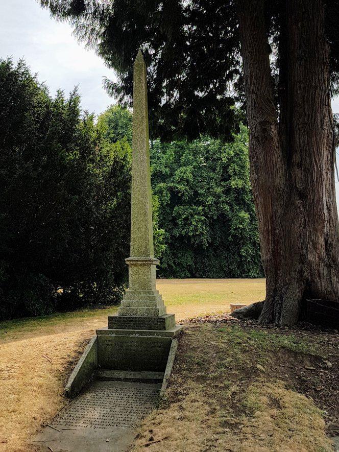 Obelisk at Compton Verney, 2018. | Image courtesy of Philip Bevan