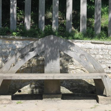 The bench at Southam Holy Well | Image courtesy of L Caves