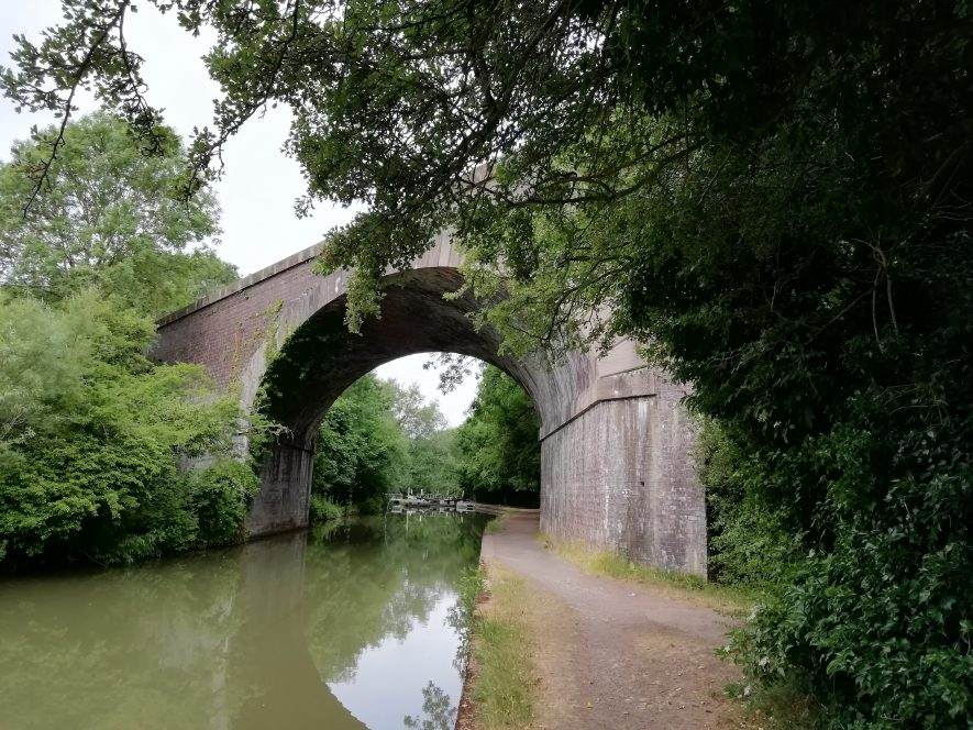 Railway viaduct east of Butt Bridge, June 2020. | Image courtesy of Gary Stocker