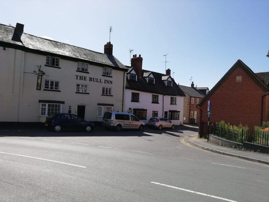 The Bull Inn, Southam, the site of an old turnpike road | Image courtesy of Gary Stocker August 2020
