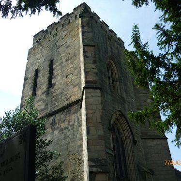Church of St Editha, Polesworth tower with its windows. This may be part of the abbey. 2018. | Image courtesy of William Arnold