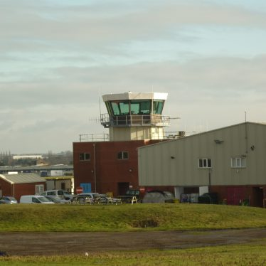 Control tower, Baginton Airfield, 2019. | Image courtesy of William Arnold
