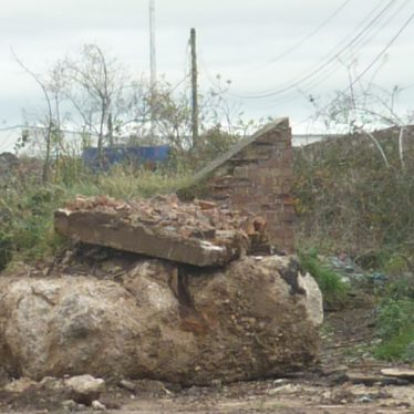 Air raid shelter to the east of the aircraft factory at Baginton Airfield