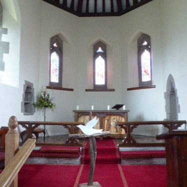 Chancel at Church of St James, Weethley, 2019.   Image courtesy of VCE Smith