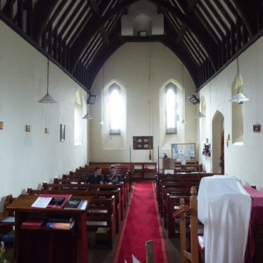 Interior of Weethley Church, 2019.   Image courtesy of VCE Smith