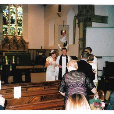 Photo of a wedding vows renewal service at St Nicholas Church, Radford Semele | Image courtesy of Gary Stocker, August 2007