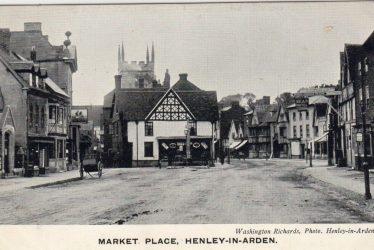 Henley in Arden.  Market Place