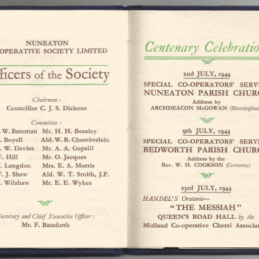 Diamond Jubilee of the Nuneaton Co-operative Society