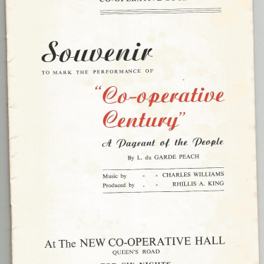 100 years of the cooperative movement nationally and the diamond jubilee of Nuneaton Co-operative Society.   Image courtesy of Kathleen McGale
