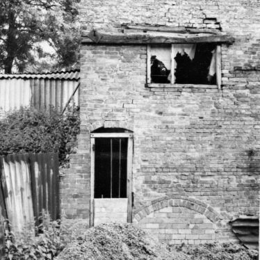 Access to waterwheel, Arbury Mill, July 1971   June Booth