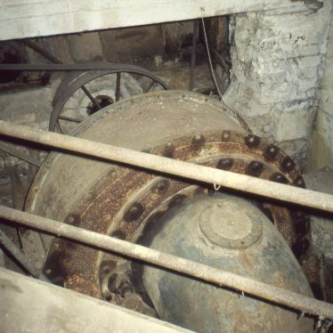The turbine at Burmington Mill, 1998 before removal for use elsewhere. | Tim Booth