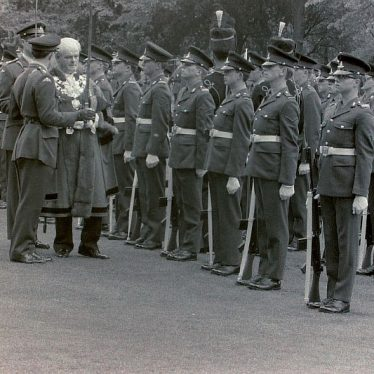 The Nuneaton Mayor Jimmy James inspects the assembled parade | L. Barnsley Collection