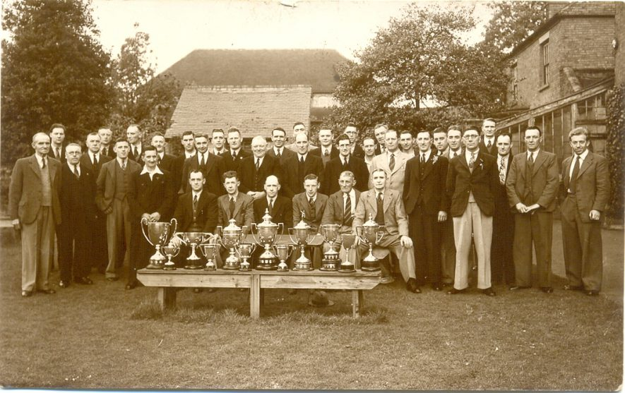Members of the bowls club at Atherstone Miners Welfare in South Street, c. 1950. | Image courtesy of Robert Higgins