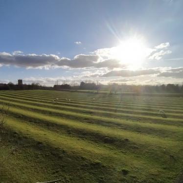 Ridge and furrow ploughing in the parish of Cherrington