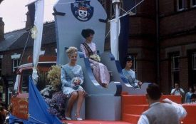Nuneaton Carnival 1965: Queen Edwina Desmier. | Image courtesy of Nuneaton Memories