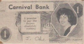 The carnival one pound note that caused so much trouble. | Image courtesy of Nuneaton Memories