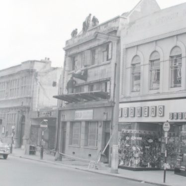 Photos of Lesters (Chemist) Shop and the 'White Swan' Pub in the Market Place