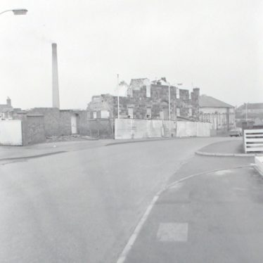 Photograph of demolition work on the old Workhouse, 1971. | Warwickshire County Record Office reference PH882/5/3786
