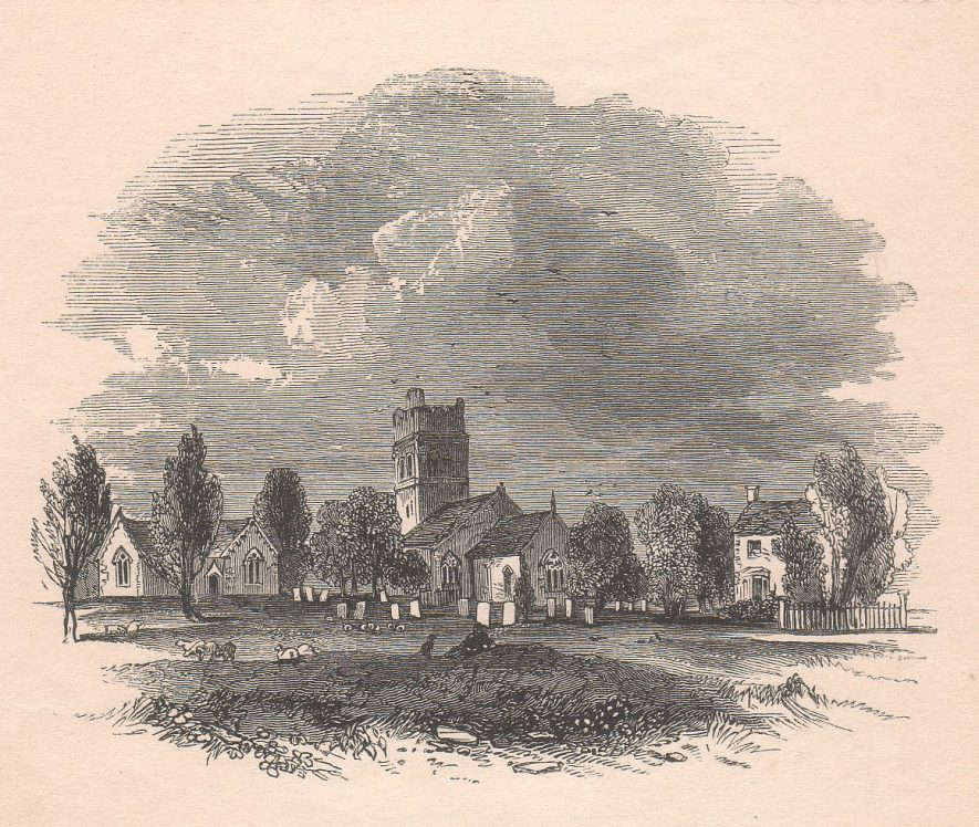 St. Peter's, Dunchurch, c. 1845. Frontispiece to Sandford's