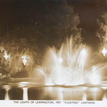 Floating lanterns in the Leamington festival of light. | Warwickshire County Record Office reference PH352/111/147
