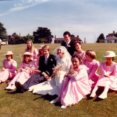 Wedding Picture of Cordelia Hall and David Dawson