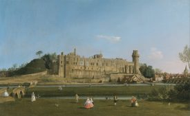 Canaletto, 1697–1768, Venetian, active in Britain (1746–55). Warwick Castle, 1748 to 1749, Oil on canvas. | Yale Center for British Art, Paul Mellon Collection