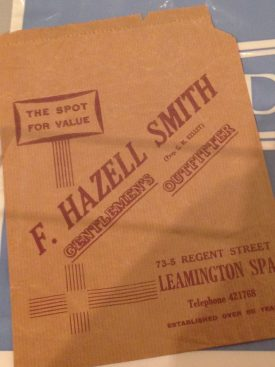 Even the paper bags are the same at F. Hazell Smith. | Image courtesy of Celia Rees