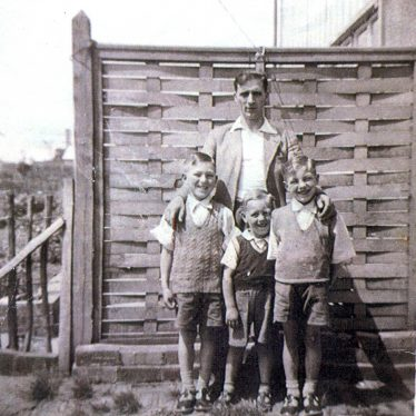 Cliff Oliver, Baker of Gadsby Street with three of his sons, Lister Street, Attleborough | Image courtesy of June Moreton