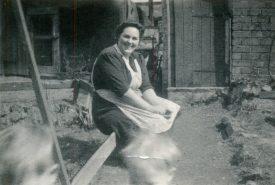Ethel Oliver, wife of Cliff Oliver, back of 294 Gadsby Sreet, Attleborough   Image courtesy of June Moreton
