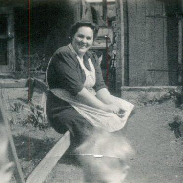 Ethel Oliver, wife of Cliff Oliver, back of 294 Gadsby Sreet, Attleborough | Image courtesy of June Moreton