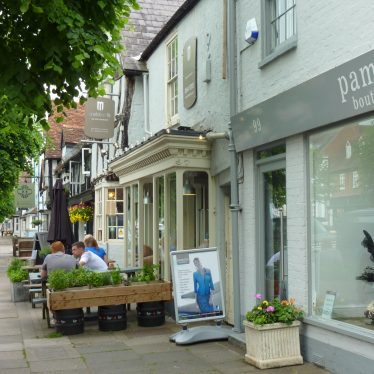 The location of the Henley ice cream hatch is shown now with shops fronts lining the street | Sarah Hann
