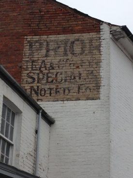An old sign advert in Leamington. | Image courtesy of Celia Rees