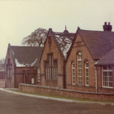 Vicarage Church School. End of infants' hall and cloakroom. | Image courtesy of Dennis Hodgetts