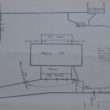 A plan of Highfield Road in the Coventry City Official Souvenir Handbook, 1919-1920. | Image courtesy of Simon Young