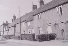 Cottages at Hampton on the Hill, 1967. | Warwickshire County Record Office reference PH212/25 page 1, number 2. Part of a photographic survey of Warwickshire parishes conducted by the Women's Institute.