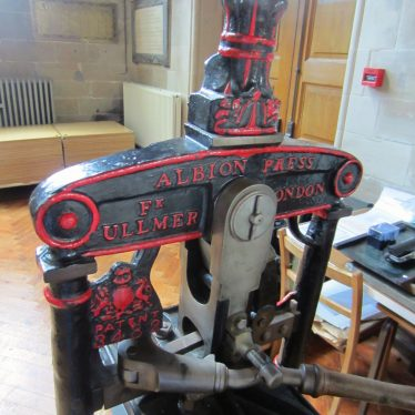 Warwick. Photos of a 19th Century Printing Press at St. Mary's Church