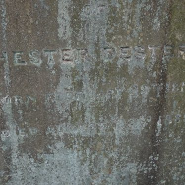 Close up view of gravestone of Hester Dester in Warton churchyard. | Image courtesy of Mary Eaton