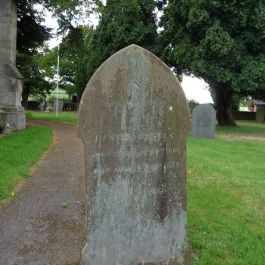 Gravestone of Hester Dester in Warton churchyard | Image courtesy of Mary Eaton