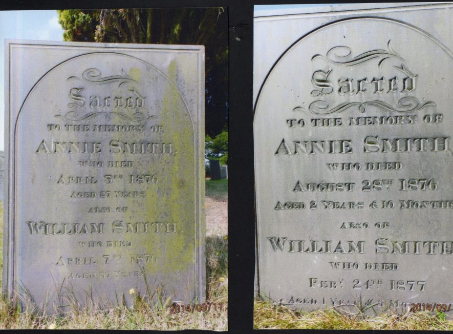 Smith gravestones, Warton Church | Image courtesy of Mary Eaton