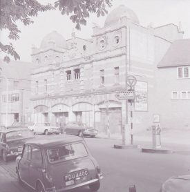 The theatre as the 'Hippodrome', photographed in 1966. | Warwickshire County Record Office, document reference PH882/3/2427