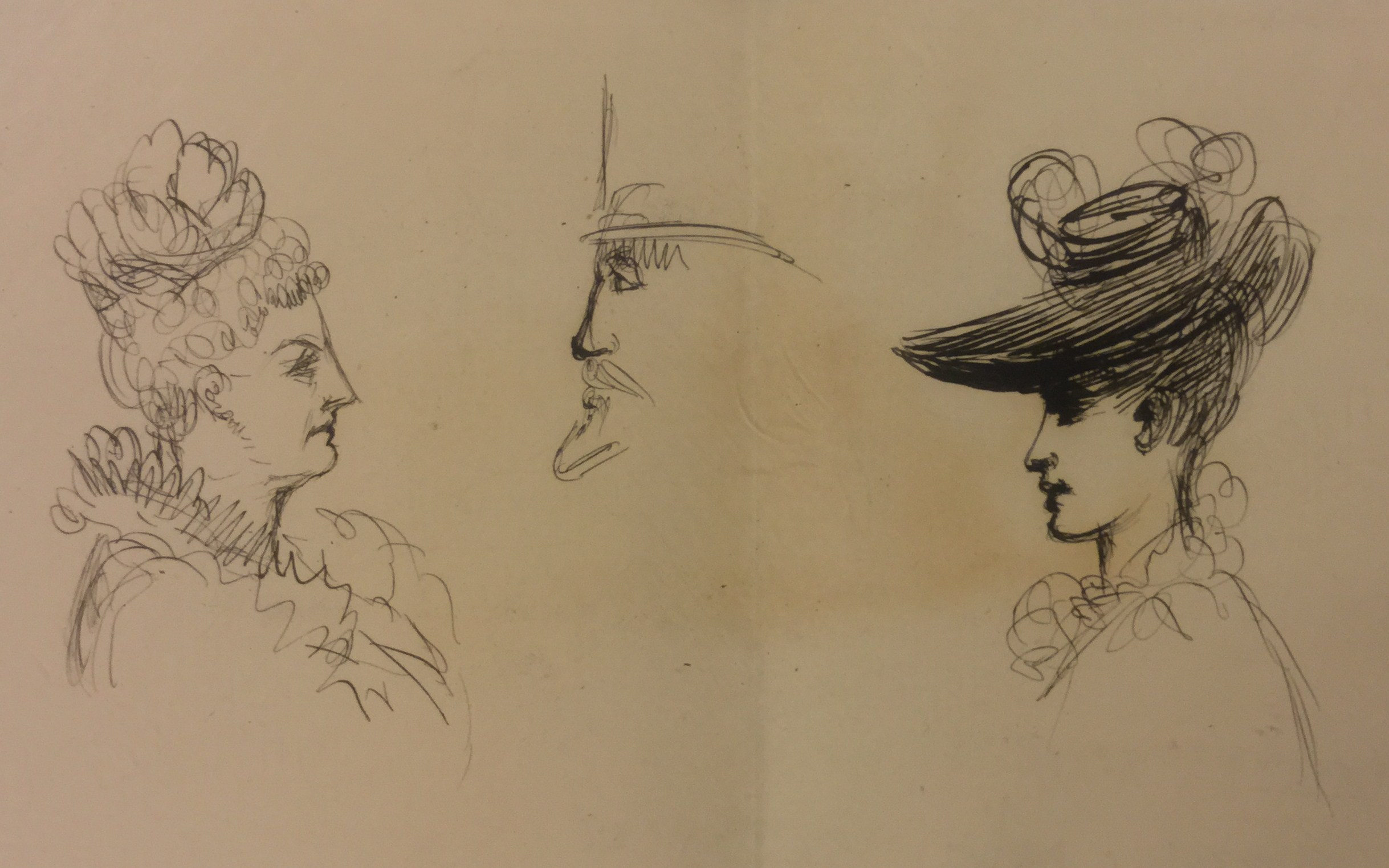 Sketches of concert goers by anne charteris 4th countess of warwick c 1895