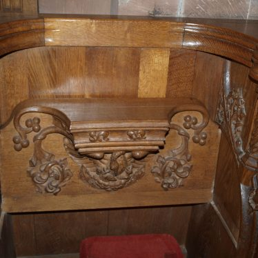A misericord in St John Baptist church, Berkswell. | Image courtesy of Caroline Irwin