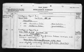 Canadian Dispatch Reporting Wounding of Brig-Gen Lord Brooke, 11 Sep 1916. | Image courtesy of the Canadian National Archives