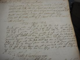 The original recipe for a taffaty tart. | Warwickshire County Record Office reference CR1841/5