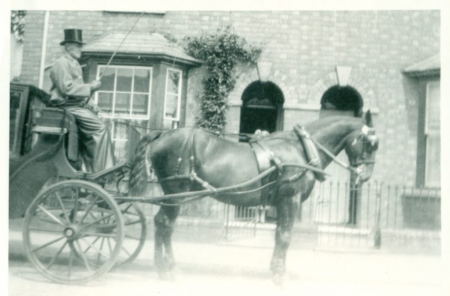 George Hull, the last coachman in Leamington, 1920s. | Image courtesy of Christine Rolf.