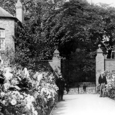 Photograph of the gates of the Miners Welfare Park at Bedworth, 1930s | Warwickshire County Record Office, PH649/34 (original at Bedworth Library)