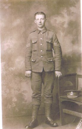 Thomas Fredrick Reeves, in soldier's uniform. | Image courtesy of Neil Painter
